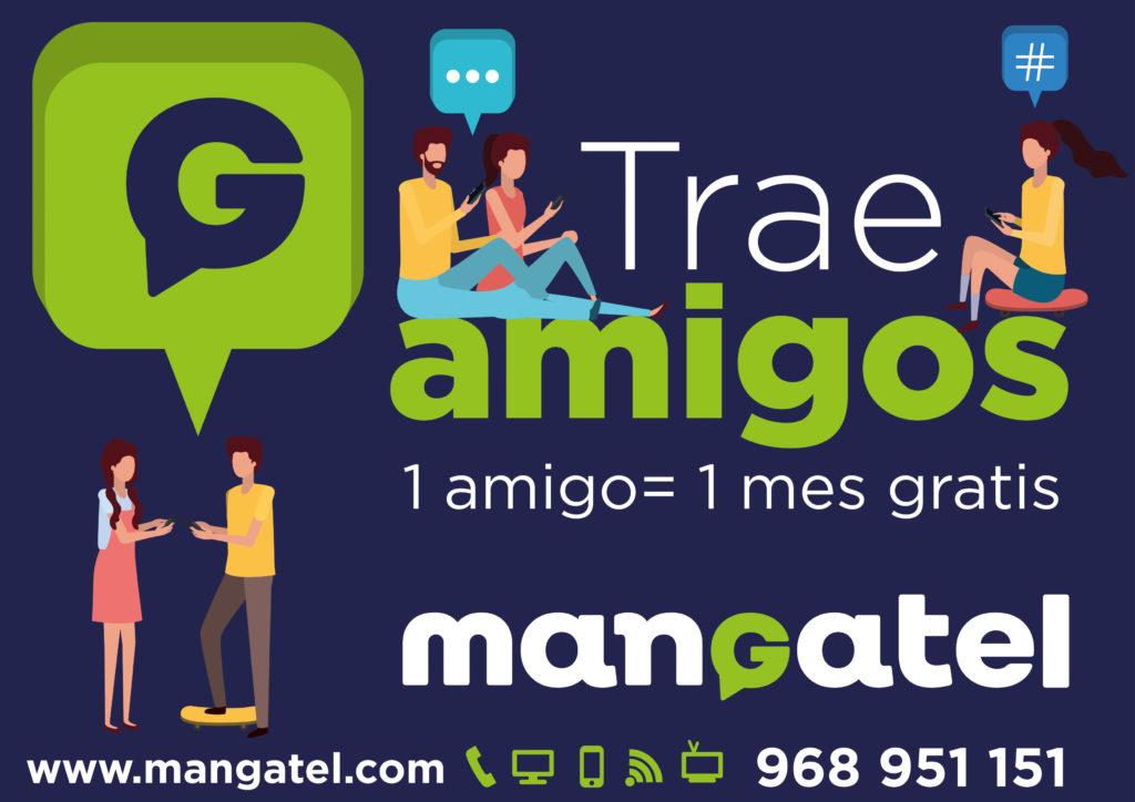 1 mes gratis si traes amigos a Mangatel