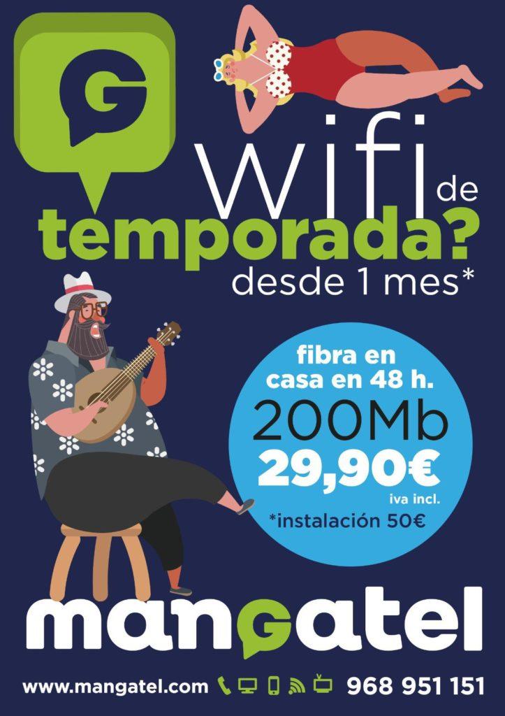 Tarifas fibra óptica 200Mb Mangatel La Manga, Cabo de Palos, Playa Honda, Playa Paraíso, El Carmolí