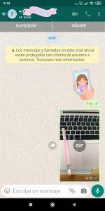 GIF creado desde Whatsapp