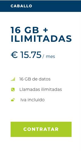 Tarifa móvil Caballo de Mangatel con 16 GB y llamadas ilimitadas por 15,75 €
