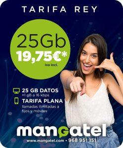 Tarifa móvil Rey de Mangatel La Manga, Los Belones Cabo de Palos